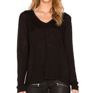 Wilt Asymmetric V-Neck Sweatshirt in Black • i19xx